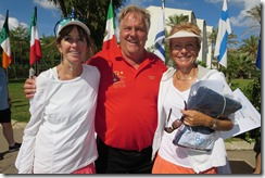 Pam Shulz, Helge, Julie David, W55 doubles finalists