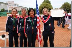 Nichols, Wendy McColskey, Karwsky, Sherri Bronson with Marble Cup