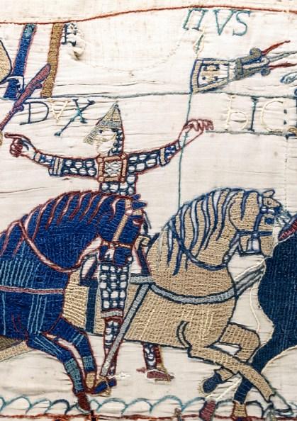 Tapisserie de Bayeux - Scène 55 (détail) - Eustache