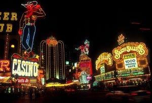las vegas, night time, neon lights