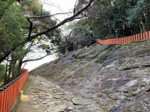 神倉神社の岩盤
