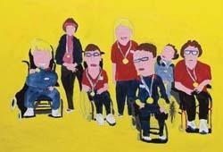 Charlie Lagden, The Ormerod Base, acrylic on canvas, 2009.