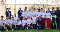 Olympians, the Princess Royal and the Sports Minister join School Games competitors at Downing Street.