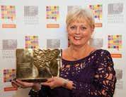Lorraine with her Lifetime Achievement Award.