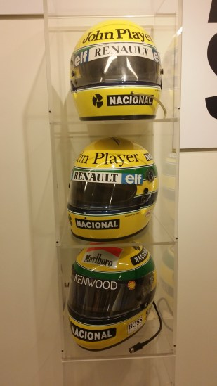 Helmets from Lotus and McLaren