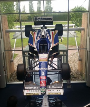 The Williams FW19 was the car with which the Williams Formula One team used to win the 1997 Formula One world championship.. It was driven by Jacques Villeneuve and hangs as the last championship winning car in the Williams Museum entrance.