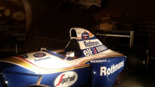 Senna's spare Williams FW16 from 1994 on display.