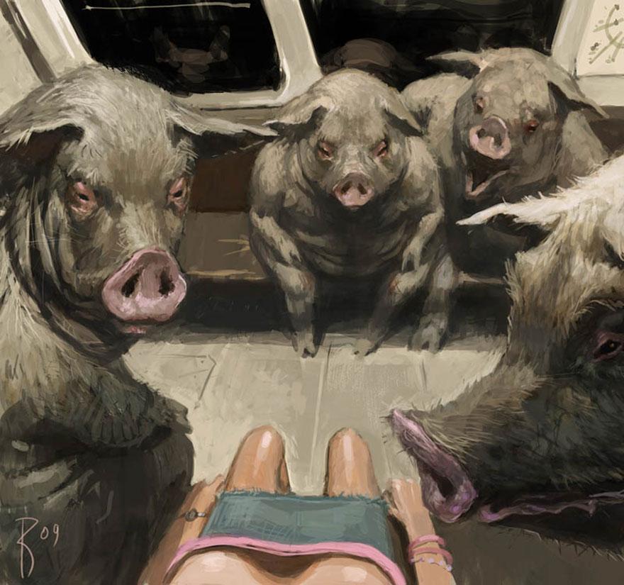 kozak pigs