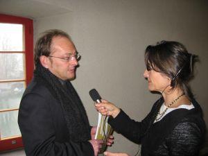 Tessiner Kollegin Cristina interviewt Filmtagechef Ivo Kummer
