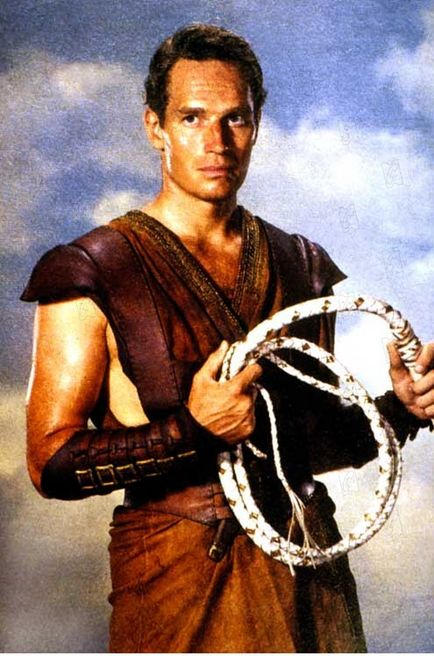 "Charlton Heston als ""Ben Hur"""