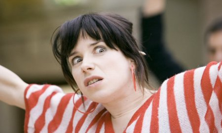 "Sally Hawkins in Mike Leigh's ""Happy-Go-Lucky"""
