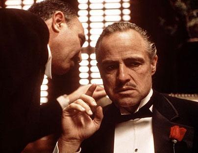"Marlon Brando in ""The Godfather"""