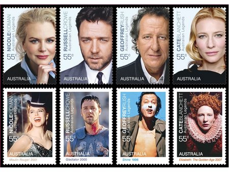 Australia legends09 stamps