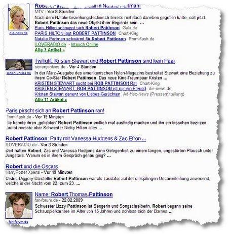 Robert Pattinson Google News