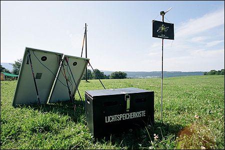 cinema solaire Lichtspeicherkiste