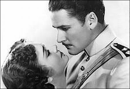 Errol Flynn & Olivia De Havilland in 'Charge of the Light Brigade'