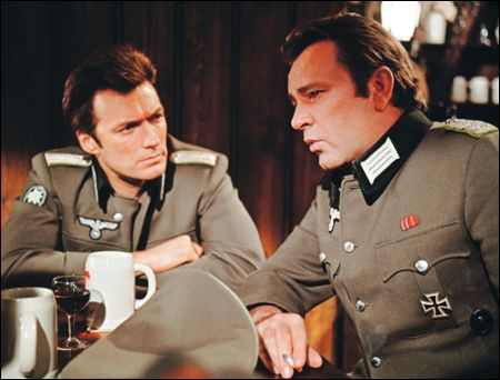 Clint Eastwood und Richard Burton in 'Where Eagles Dare' von 1968
