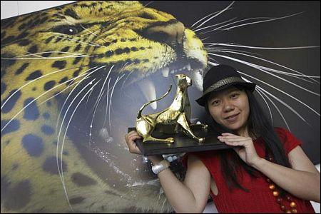 Goldener Leopard für Xiaolu Guo für 'She A Chinese' © Fotofestival Pedrazzini