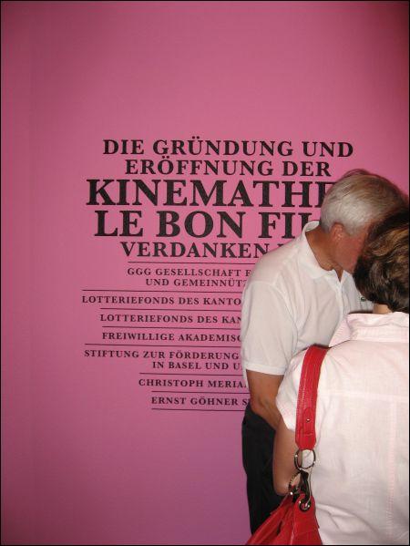 Kinemathek Le Bon Film Basel Gönnerliste