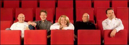 Die Köche des 4. Kulinarischen Kinos: Thomas Kammeier, Michael Kempf, Lea Linster, Christian Lohse und Tim Raue © Ali Ghandtschi