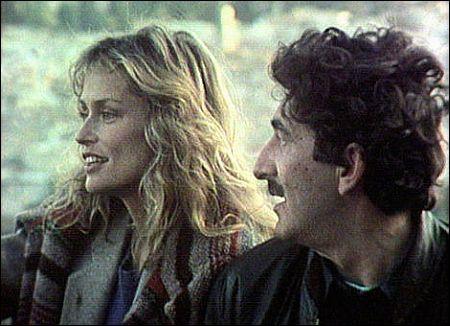 Daniel Schmid mit Lauren Hutton beim Dreh von 'Hecate'