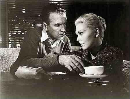 James Stewart und Kim Novak in Hitchcocks 'Vertigo' von 1958