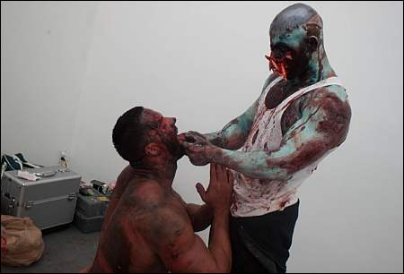'L.A. Zombie' behind the scenes ©Bruce LaBruce