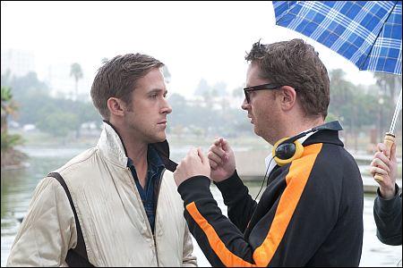 Ryan Gosling beim 'Drive'-Dreh mit Nicolas Winding Refn ©ascot-elite