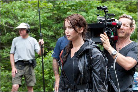 Jennifer Lawrence bei den Dreharbeiten zu 'The Hunger Games' ©rialto