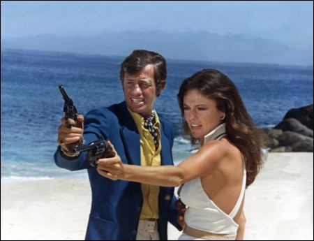 Jean-Paul Belmondo und Jacqueline Bisset in 'Le magnifique' von 1973