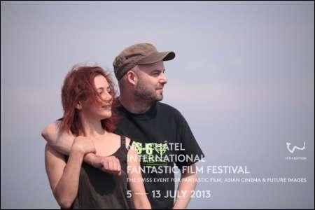 Darstellerin Jasna Kohoutova und Regisseur Olivier Beguin ('Chimères') © NIFFF (Fred Ambroisine)