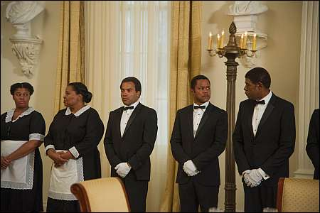 Two maids and 'The Butler'(s) Lenny Kravitz, Cuba Gooding Jr., Forest Whitaker © frenetic