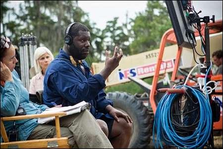 Steve McQueen auf dem Set von '12 Years A Slave' © ascot-elite