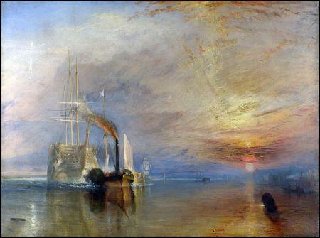 Die 'Fighting Téméraire' wird zur Verschrottung geschleppt (William Turner, 1838)