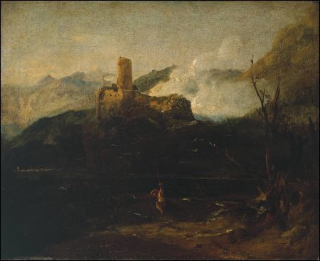 J.M.W. Turner: Mountain Screne with Castle (Martigny? Tate Gallery