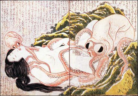Hokusai 'Der Traum der Fischersfrau'
