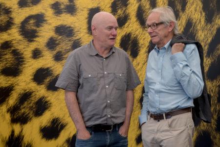 Regisseur Ken Loach mit seinem 'I, Daniel Blake' Hauptdarsteller Dave Johns auf der Piazza Grande
