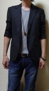 黒ジャケット2