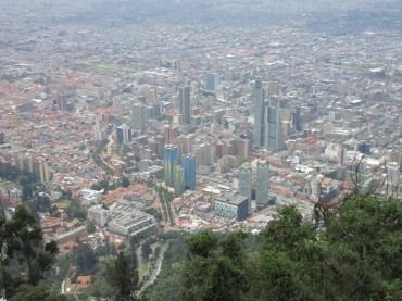 Aerial shot of Bogota
