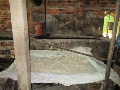 Rice in the process of being fermented for rice wine