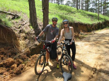 Kicking up some dust on Dalat's back roads