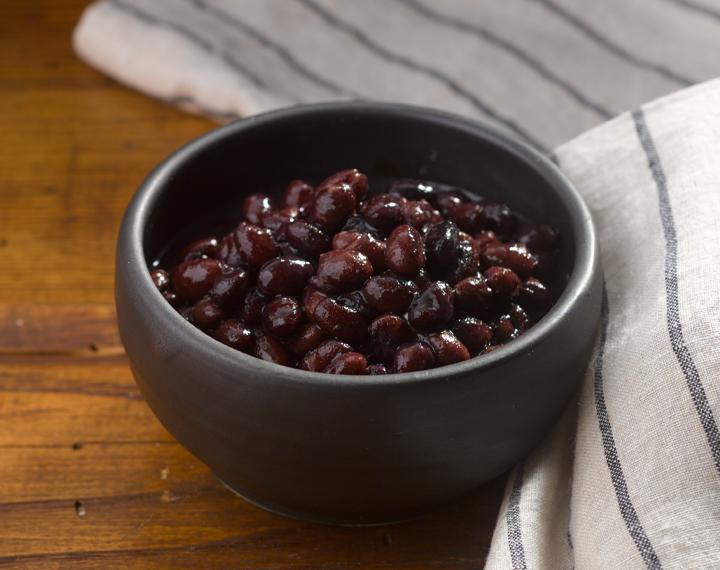 black beans in water