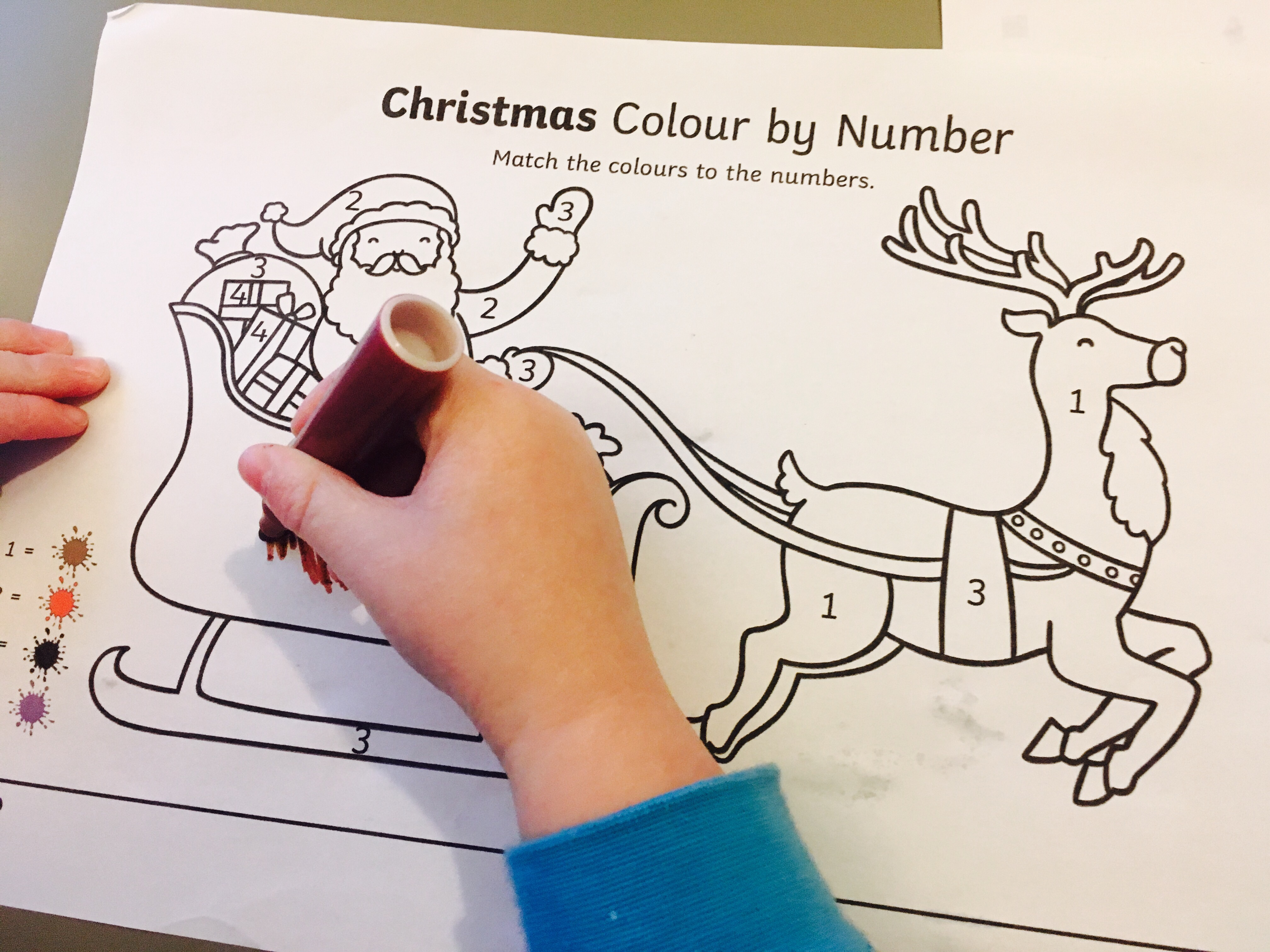 Colour By Numbers For Children