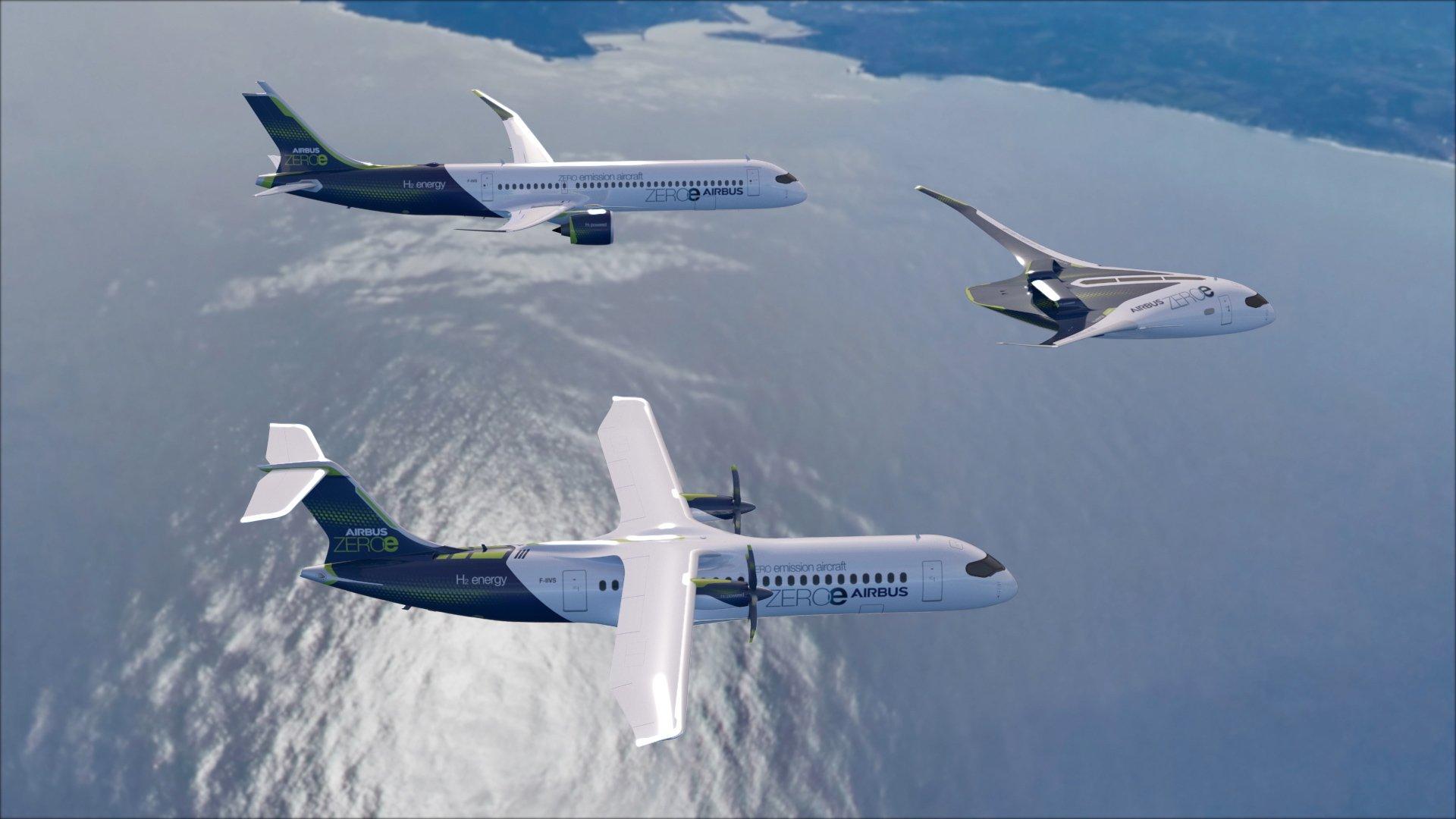 Airbus разрабатывает самолет на водороде с нулевым выбросом