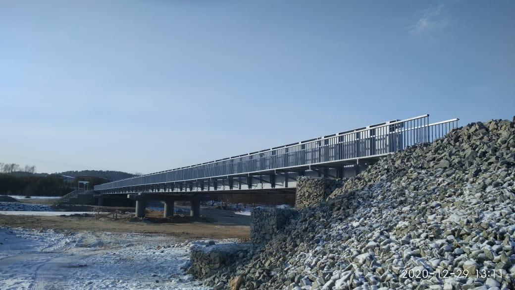 В Амурской области открыли новый мост через реку Большая Пера