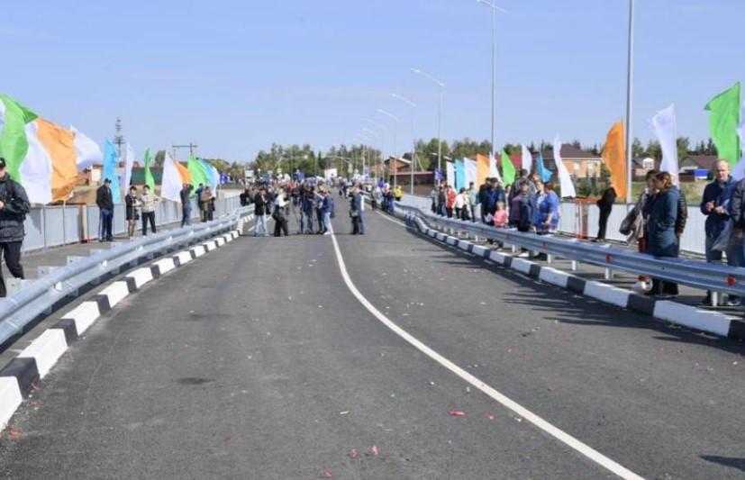 В Калачинске открыли новый мост за 500 млн рублей