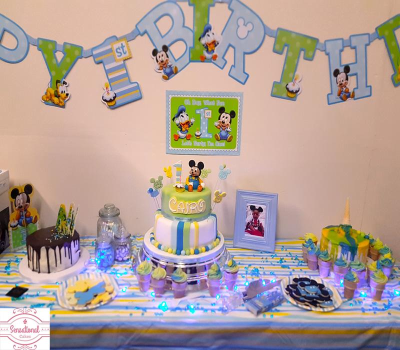 1st Birthday Baby Mickey Mouse Cake Sensational Cakes