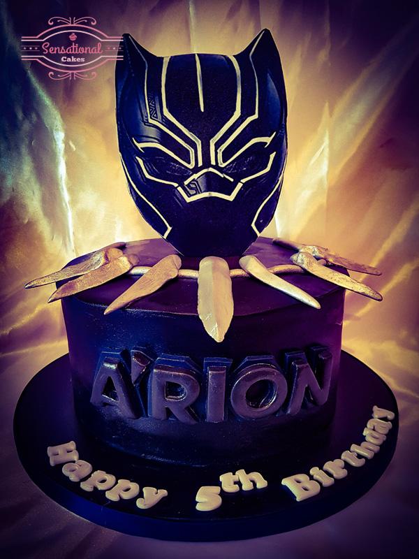 Marvel Black Panther Birthday Cake Sensational Cakes