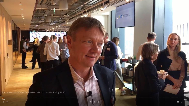 Sensative cto Göran Andersson London Bootcamp june19