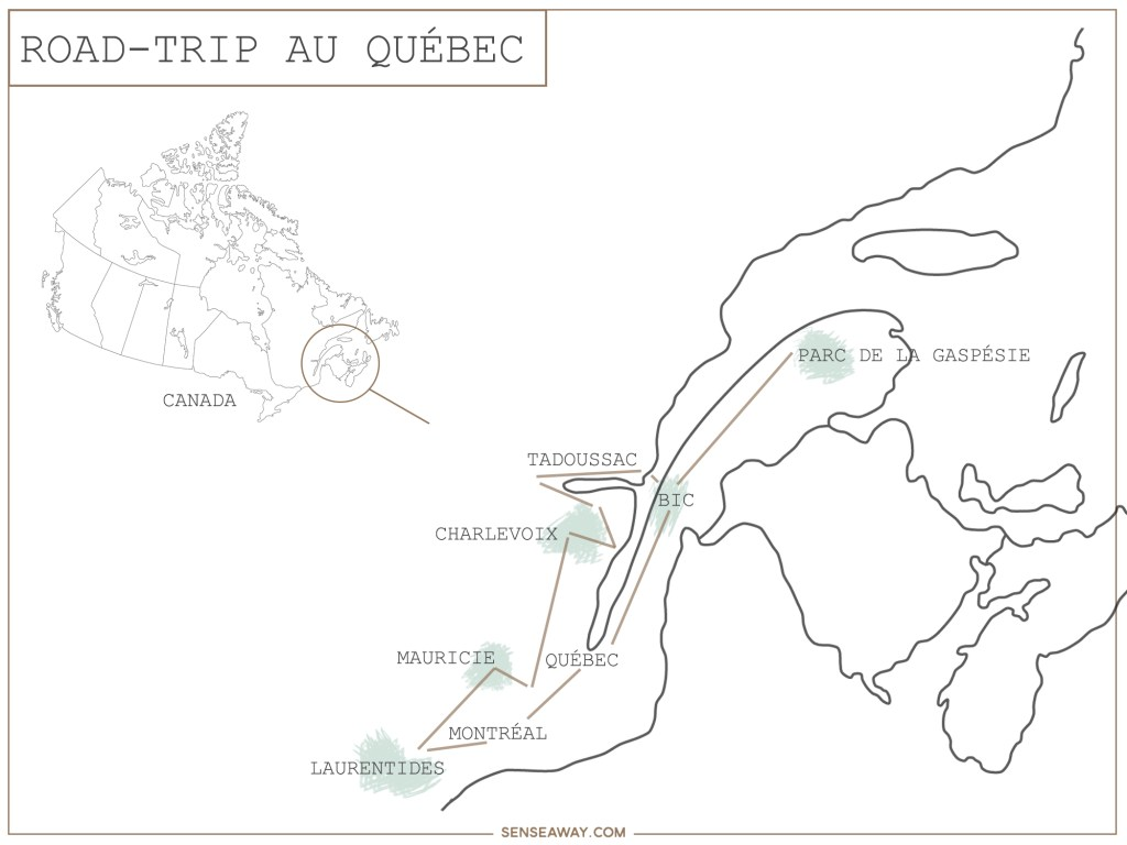 Itinéraire Road-trip Québec